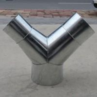 廣東鍍鋅板排氣管廠家直銷風管90度三通價格