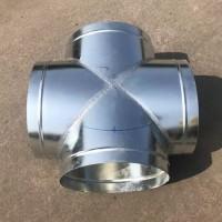 鍍鋅板圓螺旋風管三通 佛山鍍鋅板三通加工定制