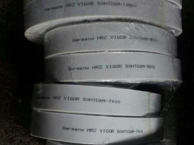 德国HRZ VIGOR皮带聚氨酯加钢丝同步带加布低噪音皮带