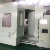 三菱M-H100C卧式加工中心,双工位
